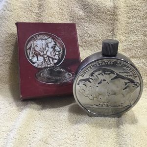 AVON Buffalo Nickel decanter with original box.